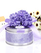 Classic Cylinder Favor Tin With Flowers (Set of 6) (050039711)