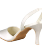 Women's Satin Stiletto Heel Closed Toe Pumps Slingbacks (047010758)