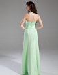 A-Line/Princess Halter Floor-Length Satin Bridesmaid Dress With Ruffle Crystal Brooch (007001863)