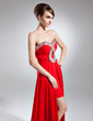 A-Line/Princess Sweetheart Asymmetrical Chiffon Prom Dress With Ruffle Beading (018015626)