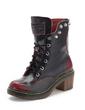 Gerçek Deri Kalın Topuk Ayak bileği Boots Martin Boots Ile Perçin ayakkabı (088057514)