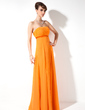 Empire Strapless Floor-Length Chiffon Bridesmaid Dress With Ruffle (007001853)