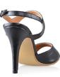Leatherette Cone Heel Sandals Slingbacks With Buckle shoes (087033633)