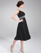 A-Line/Princess V-neck Knee-Length Chiffon Homecoming Dress With Ruffle Beading (022011115)
