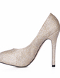 Women's Sparkling Glitter Stiletto Heel Closed Toe Platform Pumps (047017460)