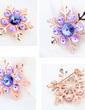 Kar Tanesi Şekilli Kristal/Altın Kaplama Bayanlar Vücut Takı (011057576)