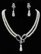 Elegant Pearl With Rhinestone Women's Jewelry Sets (011019398)