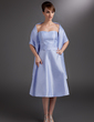 A-Line/Princess Sweetheart Knee-Length Taffeta Bridesmaid Dress With Ruffle (007000971)
