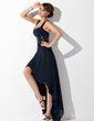 A-Line/Princess Sweetheart Asymmetrical Chiffon Homecoming Dress With Ruffle Beading (022009287)