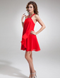 Linia A/Księżniczka Kantar Krótka/Mini Chiffon Sukienka na Zjazd Absolwentów Z Perełki (022004625)