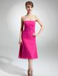Çan/Prenses Askısız Diz Hizası Chiffon Nedime Elbisesi Ile Büzgü Boncuklama (007001814)