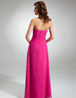 A-Line/Princess Sweetheart Floor-Length Chiffon Bridesmaid Dress With Ruffle Beading (007001063)