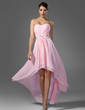 A-Line/Princess Sweetheart Asymmetrical Chiffon Prom Dress With Ruffle Beading (018005104)