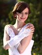 Satin Elbow Length Bridal Gloves (014008199)