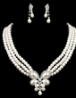 Elegancki Perła Z Rhinestone Ladies ' Zestawy biżuterii (011005550)