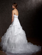 Ball-Gown Sweetheart Chapel Train Satin Organza Wedding Dress With Ruffle Beading (002011379)