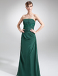 A-Line/Princess Strapless Floor-Length Chiffon Mother of the Bride Dress With Ruffle Lace Beading Sequins (008006421)
