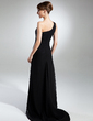 Sheath/Column One-Shoulder Sweep Train Chiffon Evening Dress With Ruffle Split Front (008015362)