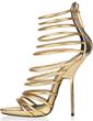 Suede Stiletto Heel Sandals With Zipper (087026672)