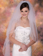 Two-tier Fingertip Bridal Veils With Pencil Edge (006003961)