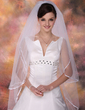 Two-tier Waltz Bridal Veils With Ribbon Edge (006020345)