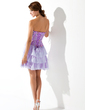 A-Line/Princess Sweetheart Short/Mini Chiffon Homecoming Dress With Beading (022011225)