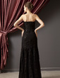 Trumpet/Mermaid Strapless Floor-Length Chiffon Evening Dress With Beading Appliques Lace Sequins (008014247)