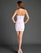Sheath/Column Strapless Short/Mini Satin Cocktail Dress With Ruffle Bow(s) (008015572)