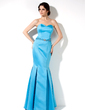 Trumpet/Mermaid Sweetheart Floor-Length Satin Bridesmaid Dress With Beading (007000907)