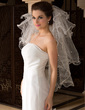 Four-tier Fingertip Bridal Veils With Scalloped Edge (006036626)