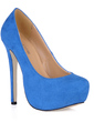 Suede Stiletto Heel Pumps Platform Closed Toe shoes (085017510)