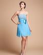 Çan/Prenses Askısız Kısa/Mini Chiffon Charmeuse Mezunlar Gecesi Elbisesi (022002318)