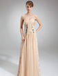 Empire Sweetheart Floor-Length Chiffon Lace Mother of the Bride Dress With Ruffle Beading (008016862)