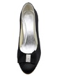 Women's Satin Closed Toe Pumps With Bowknot Rhinestone (047039653)
