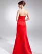 Trumpet/Mermaid Sweetheart Floor-Length Satin Bridesmaid Dress (007001471)