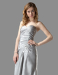 Trumpet/Mermaid Sweetheart Floor-Length Taffeta Bridesmaid Dress With Ruffle Beading (007001041)