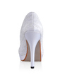 Women's Silk Like Satin Cone Heel Closed Toe Platform Pumps With Stitching Lace (047026742)