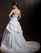 Ball-Gown Sweetheart Chapel Train Taffeta Wedding Dress With Embroidered Ruffle Beading (002012669)