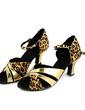 Kadın Satin Rugan Topuk Sandalet Latin Dans Ayakkabıları (053013443)