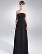 A-Line/Princess Strapless Floor-Length Chiffon Mother of the Bride Dress (008015710)