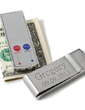 Personalized Simple Stainless Steel Money Clips (051028995)