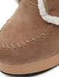 Süet Kalın Topuk Pompalar Platform Kapalı Toe Bot Ayak bileği Boots Ile Bağcıklı ayakkabı (088057555)