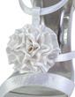 Women's Satin Cone Heel Peep Toe Platform Sandals With Satin Flower (085026901)