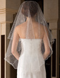 One-tier Waltz Bridal Veils With Scalloped Edge (006036631)