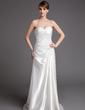 A-Line/Princess Sweetheart Court Train Charmeuse Wedding Dress With Ruffle Beading (002000456)