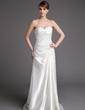 A-Linie/Princess-Linie Herzausschnitt Hof-schleppe Charmeuse Brautkleid mit Rüschen Perlen verziert (002000456)