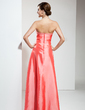 A-Line/Princess Sweetheart Floor-Length Taffeta Bridesmaid Dress With Ruffle Beading (007001062)