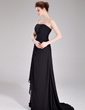 A-Line/Princess Sweetheart Sweep Train Chiffon Bridesmaid Dress With Beading Cascading Ruffles (007004180)
