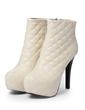 Suni deri İnce Topuk Platform Ayak bileği Boots ayakkabı (088056309)
