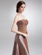 Çan/Prenses Kalp Kesimli Uzun Etekli Chiffon Taffeta Gelin Annesi Elbisesi Ile Büzgü Lace Boncuklama (008006297)